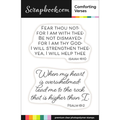 Scrapbook.com - Clear Photopolymer Stamp Set - Comforting Verses