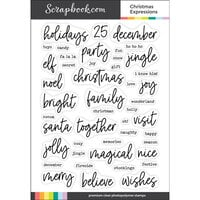 Scrapbook.com - Clear Photopolymer Stamp Set - Christmas Expressions