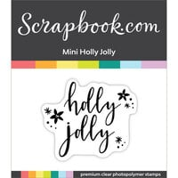 Scrapbook.com - Clear Photopolymer Stamp Set - Mini Holly Jolly