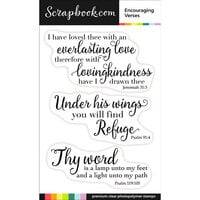 Scrapbook.com - Clear Photopolymer Stamp Set - Encouraging Verses