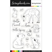 Scrapbook.com - Clear Photopolymer Stamp Set - Spring Animals