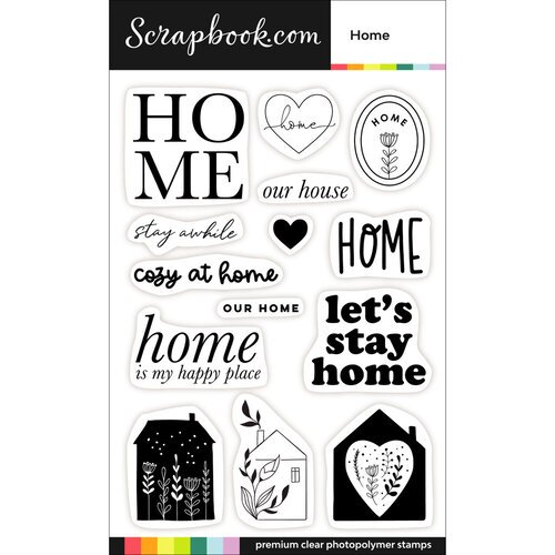 Scrapbook.com - Clear Photopolymer Stamp Set - Home
