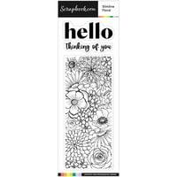 Scrapbook.com - Clear Photopolymer Stamp Set - Slimline Floral