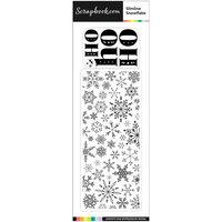 Scrapbook.com - Clear Photopolymer Stamp Set - Slimline Snowflake