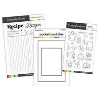 Scrapbook.com - Clear Photopolymer Stamp Set - Recipe Card Maker Bundle