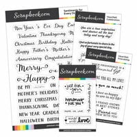 Clear Photopolymer Stamp Set - Card Sentiment Basics Bundle