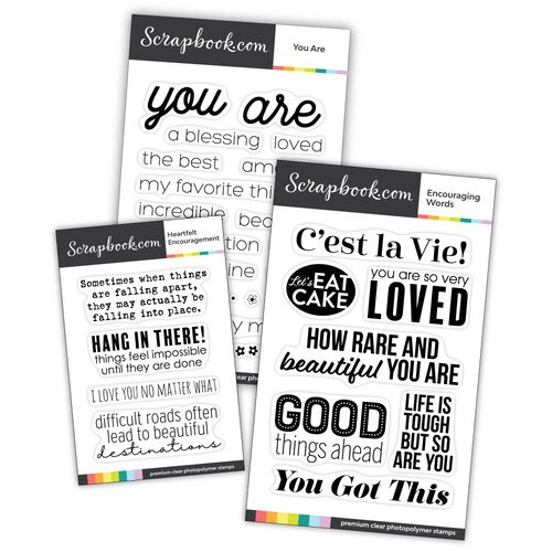 Scrapbook.com - Clear Photopolymer Stamp Set - Encouragement Bundle