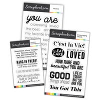 Scrapbook.com - Clear Photopolymer Stamp Set - Encouragement Bundle