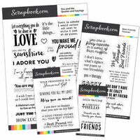 Scrapbook.com - Clear Photopolymer Stamp Set - Friendship Bundle