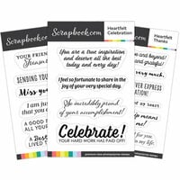 Scrapbook.com - Clear Photopolymer Stamp Set - Heartfelt Sentiments Bundle