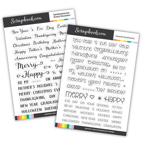 Scrapbook.com - Clear Photopolymer Stamp Set - Everyday Occasions Bundle