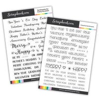 Clear Photopolymer Stamp Set - Everyday Occasions Bundle