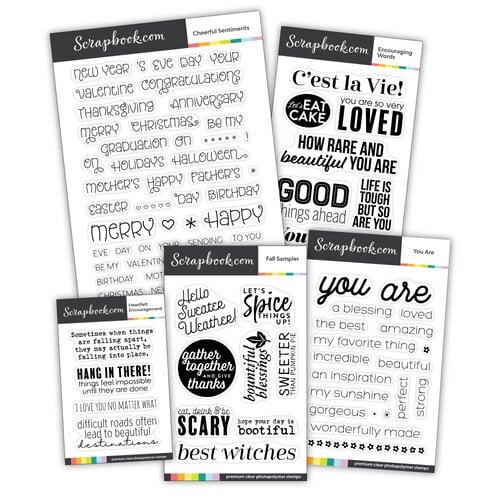 Scrapbook.com - Clear Photopolymer Stamp Set - Autumn Bundle