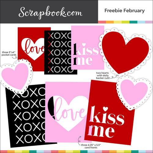 Scrapbook.com - Digital Cut File - Freebie February - Bundle of 10 Designs