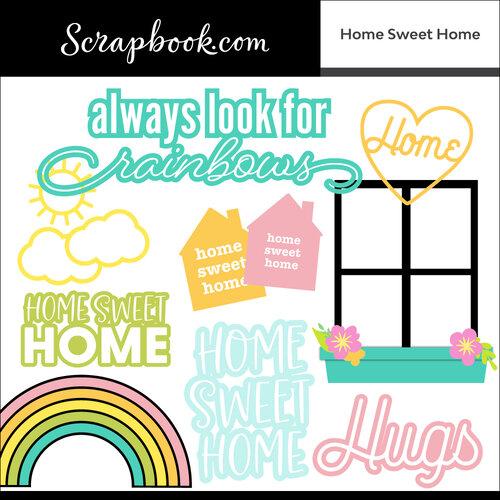 Scrapbook.com - Digital Cut File - Home Sweet Home - Bundle of 17 Designs
