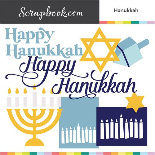 Scrapbook.com - Digital Cut File - Hanukkah - Bundle of 8 Designs
