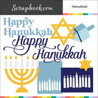 Scrapbook.com - Digital Cut File - Hanukkah - Bundle of 8 Designs