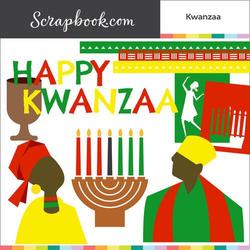 Scrapbook.com - Digital Cut File - Kwanzaa - Bundle of 9 Designs