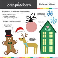 Digital Cut File - Christmas Village - Layering Set - Bundle of 9 Designs