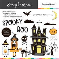 Digital Cut File - Spooky Night - Layering Set - Bundle of 13 Designs