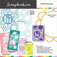 Scrapbook.com - Digital Cut File - Floral Sampler Pack for Cards and More