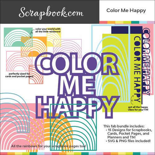 Scrapbook.com - Digital Cut File - Color Me Happy - Bundle of 15 Designs
