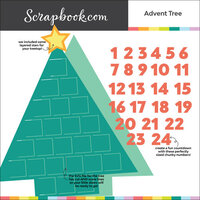 Scrapbook.com - Digital Cut File - Advent Tree - Bundle of 3 Designs
