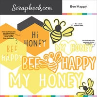 Scrapbook.com - Digital Cut File - Bee Happy - Bundle of 6 Designs