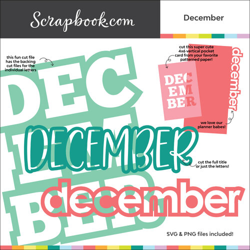 Scrapbook.com - Digital Cut File - December - Bundle of 5 Designs