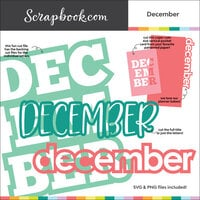 Scrapbook.com - Digital Cut File - December - Bundle of 5 Designs