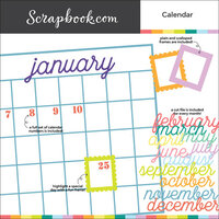 Scrapbook.com - Digital Cut File - Calendar - Bundle of 16 Designs