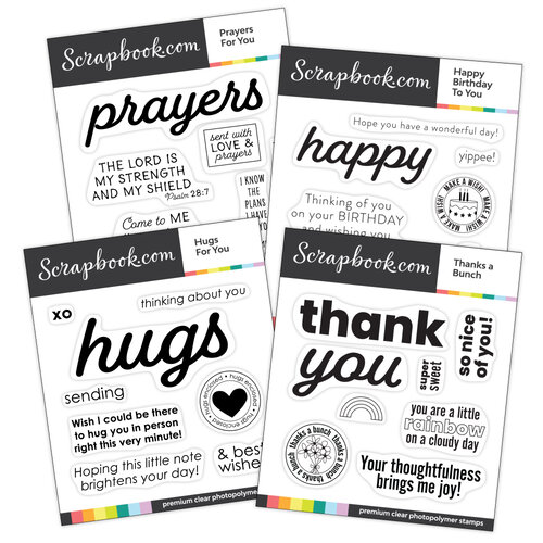 Scrapbook.com - Clear Photopolymer Stamp Set - Say It With Sentiments Bundle