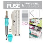 "We R Memory Keepers - Photo Sleeve Fuse - Custom 2"" x 2"" Waterfall Kit"