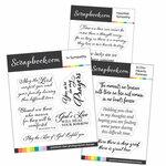Clear Photopolymer Stamp Set - Heartfelt Sympathy Sentiments Bundle