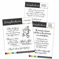 Clear Photopolymer Stamp Set - Heartfelt Sympathy Sentiments Bundle