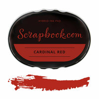 Scrapbook.com - Premium Hybrid Ink Pad - Holiday Group - Cardinal Red