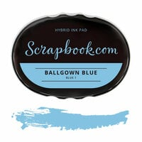 Scrapbook.com - Premium Hybrid Ink Pad - Blue Group - Ballgown Blue