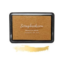 Scrapbook.com - Premium Pigment Ink Pad - Metallic Gold