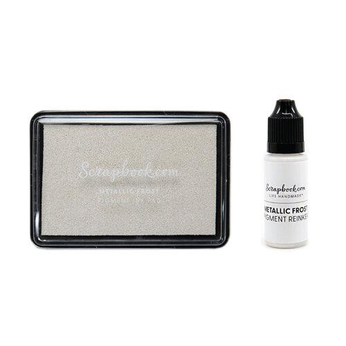 Scrapbook.com - Premium Pigment Ink Pad and Reinker - Metallic Frost