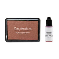 Scrapbook.com - Premium Pigment Ink Pad and Reinker - Metallic Rose Gold