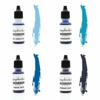 Scrapbook.com - Premium Hybrid Reinker Kit - Blue Group