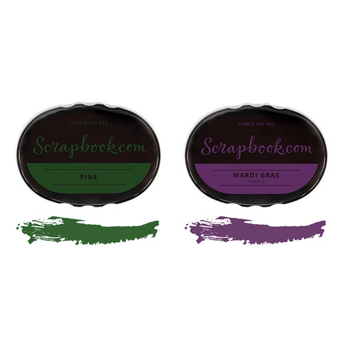 Scrapbook.com - Premium Hybrid Ink Pad Kit - Mardi Gras Group