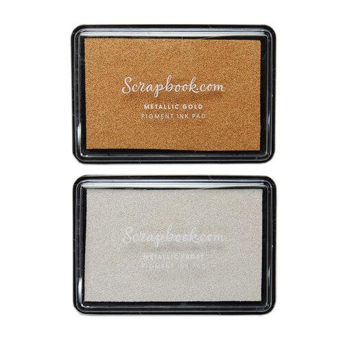 Scrapbook.com - Premium Pigment Ink Pad Kit - Metallics