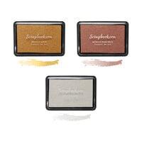 Scrapbook.com - Premium Pigment Ink Pad - Metallics Trio - 3 Pack