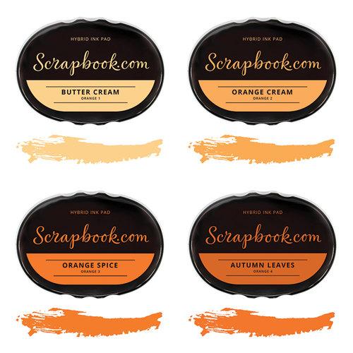 Scrapbook.com - Premium Hybrid Ink Pad Kit - Orange Group
