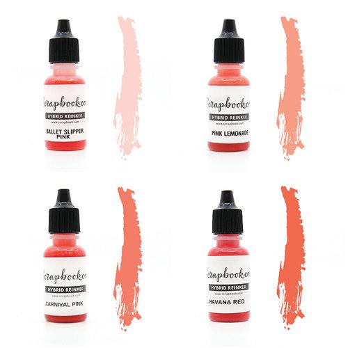 Scrapbook.com - Premium Hybrid Reinker Kit - Pink Group