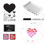 Exclusive - Make Your Own Cards Kit - Heart and Smile - 25 Pack - Complete Bundle