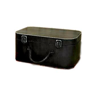 Scrapbook.com - Antique Black Tin Suit Case, CLEARANCE