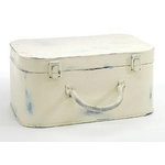 Scrapbook.com - White-Wash Tin Suit Case, CLEARANCE