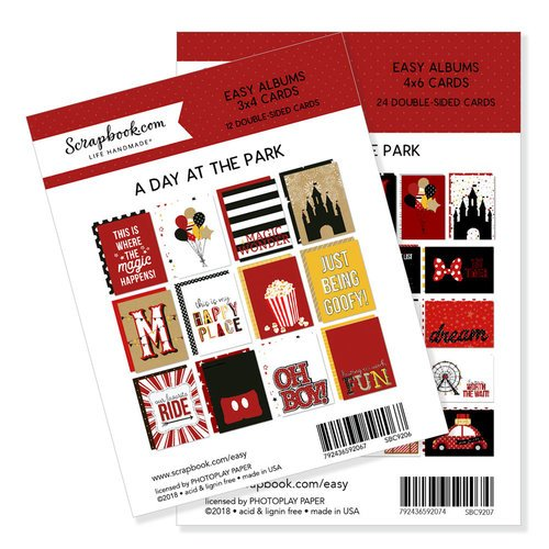 Scrapbook.com - 3 x 4 and 4 x 6 - Themed Cards for Easy Albums - Magical Day at the Park Bundle